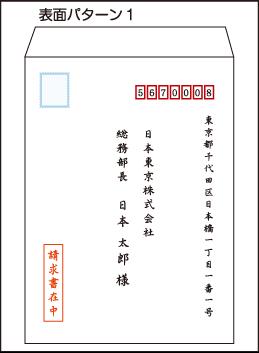 封筒の書き方 表面パターン1